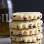 stack of 5 olive oil cookies