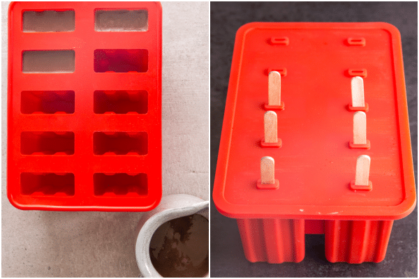 how to make fudgsicles in the mold