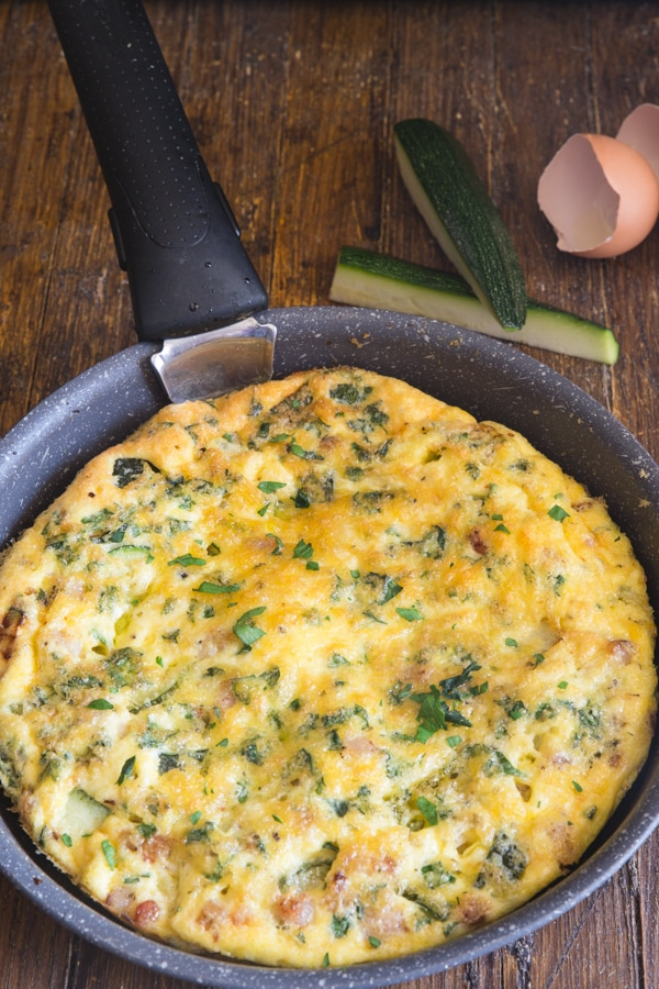 baked frittata in a pan