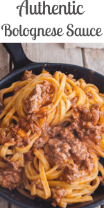 This delicious Authentic Bolognese Sauce or Ragu alla Bolognese is made with few ingredients and lots of patience. A true Bolognese takes time, but it is so worth it. #bolognese #bolognesesauce #ragu #spaghettisauce #tomatosauce #meatsauce