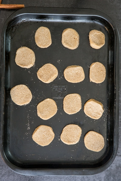 placing the cookies on an ungreased cookie sheet