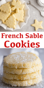 These delicious French Sable Cookies also known as Breton Cookies are a simple buttery crumbly French butter cookie. A must try this Holiday Season. #sable #sablecookies #breton #frenchbuttercookies #buttercookies #Christmascookies #cookies
