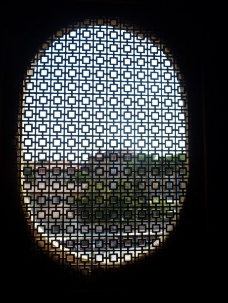 A view of out the upper window.