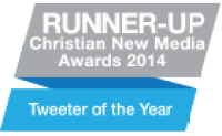 Runner Up Christian Media Awards 2014 - Tweeter of the year