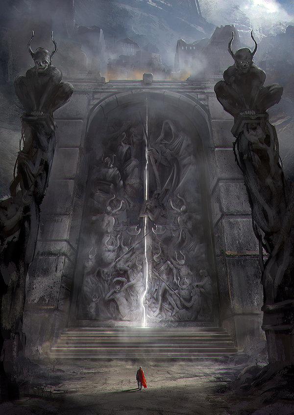 Invitation pour entrer temple de la noire obsidienne