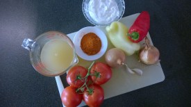 The ingredients ready to be cooked