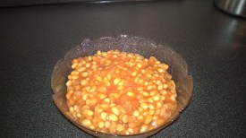 And the delicious Baked Beans are ready.