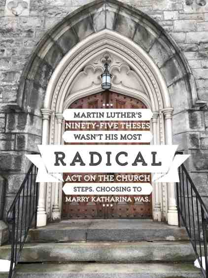 Katharina & Martin Luther by Michelle DeRusha reveals Martin Luther's most radical act--and it didn't involve nailing something to a church door. http://wp.me/p7W1vk-9b