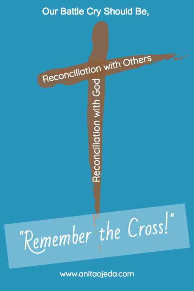 The cross will never lead us to violence, prejudice, racism, or rejection. Instead, it leads us to reconciliation. It symbolizes vertical reconciliation between us and God, as well as horizontal reconciliation between us and everyone else who lives on this planet. #reconciliation #foregiveness, #imsorry
