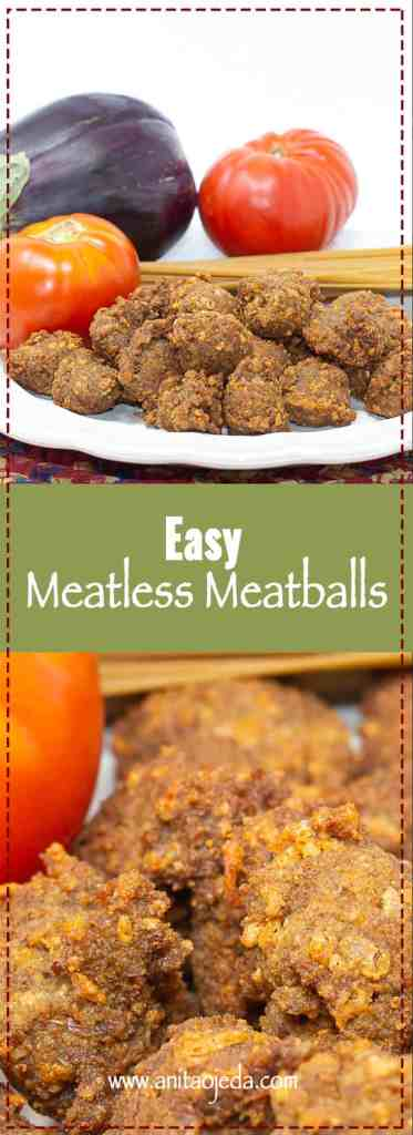 These meatless meatballs are so good, no one will care that they're vegetarian! #recipe #pasta #meatballs #meatlessmonday #mealprep