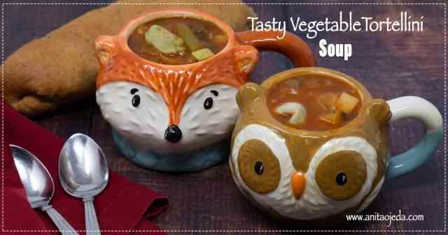 vegetarian tortellni soup