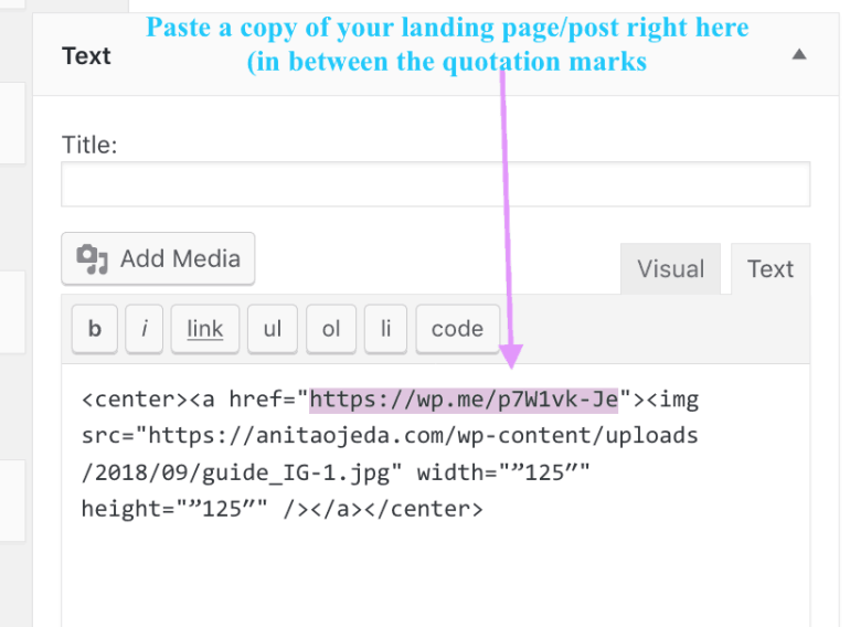 Create a button for your landing page