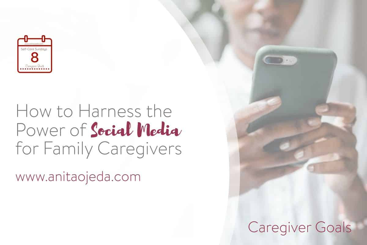 If you're caring for a family member, that makes you a family caregiver. These five hacks will help you harness the power of social media. #familycaregivermonth #caregiver #burnout #socialmedia #caringbridge #lotsahelpinghands #socialmedia