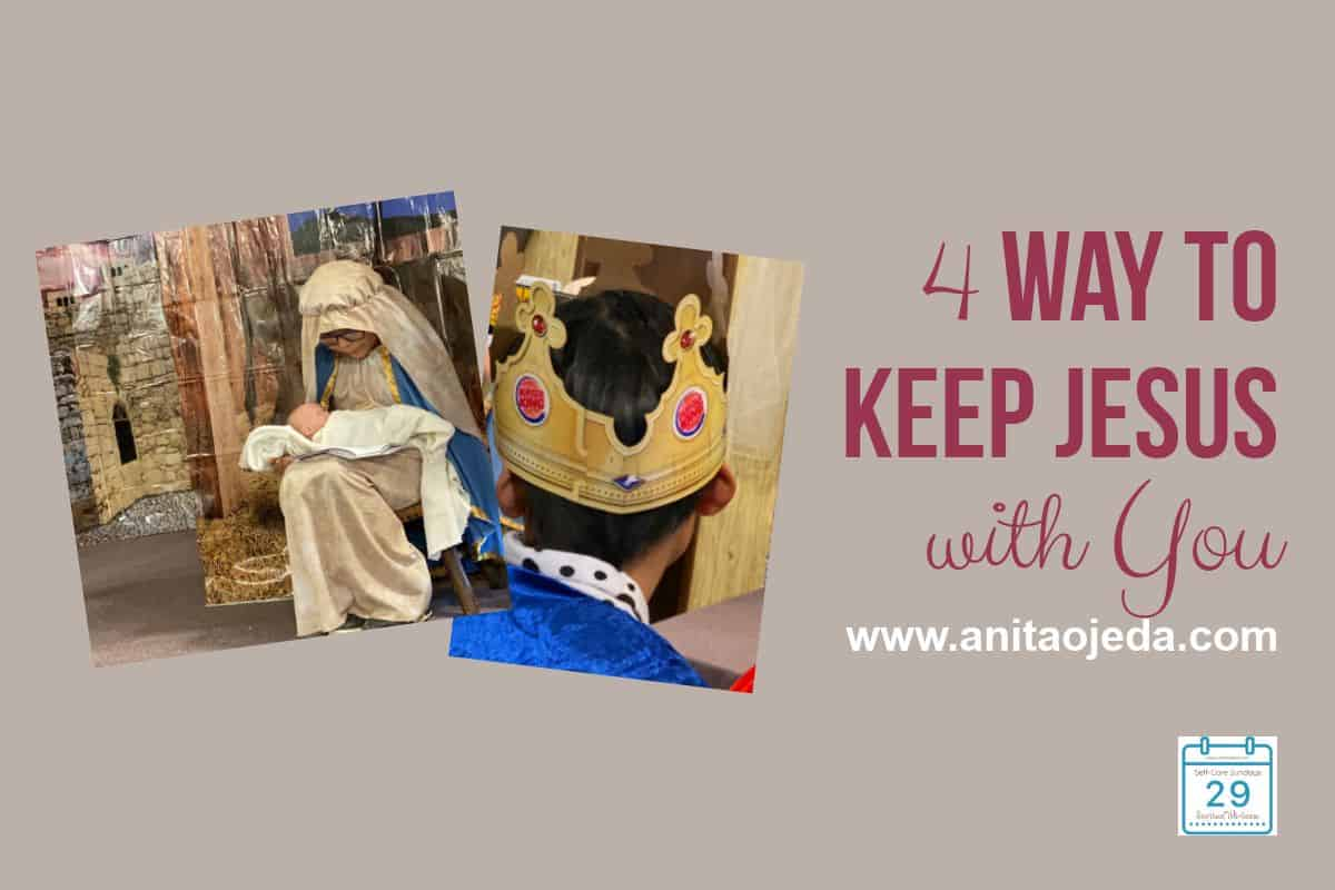 Baby Jesus gets a lot of attention this time of year as we struggle to help keep Christ in Christmas and avoid consumerism. But what does 'Immanuel, (God with us)' (Isaiah 7:14 AMP) really mean? #godwithus #immanuel #selfcare #SelfCareSunday #gift #Christian #faith