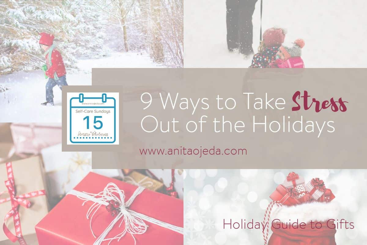 Wondering how to spend (and stress) less this holiday season? Check out this practical holiday guide to giving without stressing. #selfcare #holidayguide #SelfCareSunday #gifts