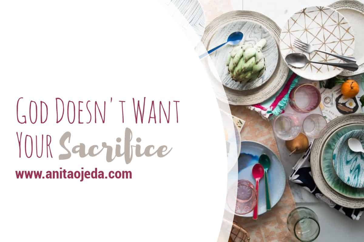 What happens when we sacrifice our time and efforts for others? Does God really ask us to sacrifice our resources for him? Maybe. But maybe not. #sacrifice #justice #mercy #obedience #Christian #relationship