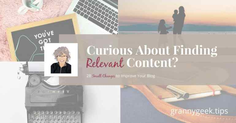 Do you ever struggle to come up with relevant content? I do, too. Find out five ways to discover relevant topics to write about on your blog. #bloggingtips #blogger #relevant #content #amwriting #write28days #blogging