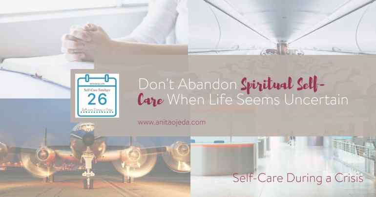 My biggest spiritual crisis hit me during Pedro's cancer crisis. I thought growing up in a Christian home and asking Jesus to be my Savior would insulate me from life's woes. Not so. I had to learn how to take care of myself spiritually during a crisis. #crisis #selfcare #SelfCareSunday #Christian #COVID-19 #coping