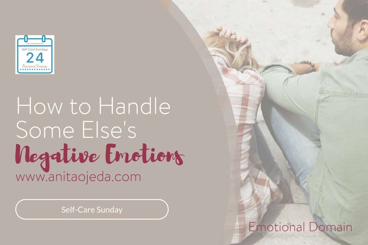 Check out these hacks for handling someone else's negative emotions. What do you do when someone dumps their out-of-control emotions all over you? My first reaction is to feel guilt.#guilt #emotionalhealth #relationships #selfcare #SelfCareSunday #selfcarehacks #anger