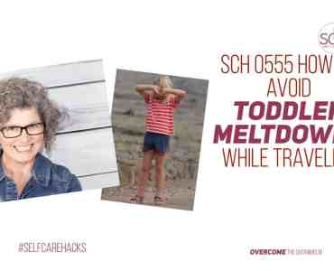 Does the thought of traveling with a toddler bring on visions of meltdowns and hysteria? These self-care hacks will help your toddler travel better and help you avoid a meltdown (your child's or your own). #toddler #travel #parenting #meltdowns #schedule #summertime #airtravelwithtoddler #selfcare #selfcarehacks #podcast
