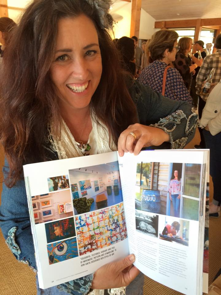 Author and artist Anita Revel at the book launch of Artists of the Margaret River Region