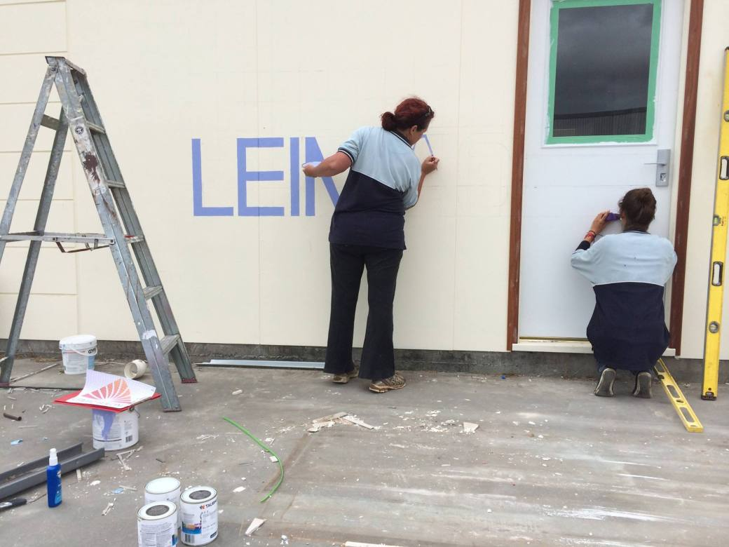 leimac mural artists at work