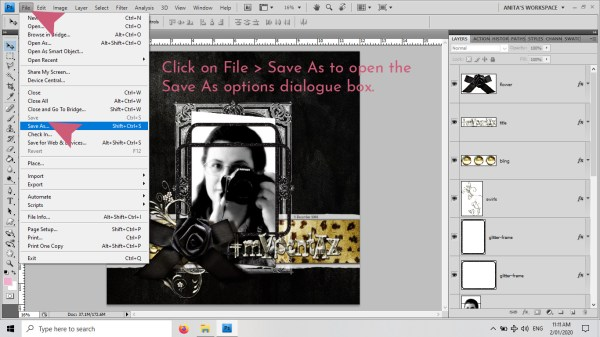 Blog Post: digiscrap-1175 How to optimise your layout file sizes by using .TIFs 01