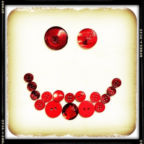 Smile Again: Day 11 Buttons incl. Vintage on Cardstock