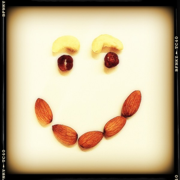 Smile Again: Day 17 Assorted Tree Nuts on Dinner Plate
