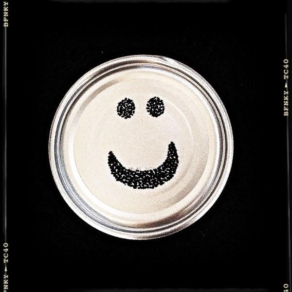 Smile Again: Day 20 Black Chia Seeds on Gravy Tin Bottom