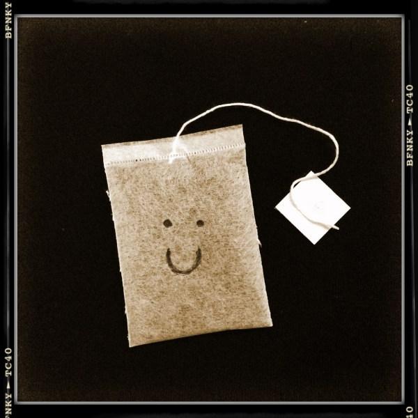 Smile Again: Day 25 Biro on Chamomile Tea Bag