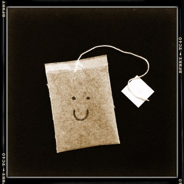 Smile Again: Day 25 Biro on Chamomile Tea Bag