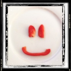 Smile Again: Day 32 Capsicum on Dinner Plate