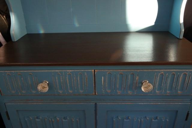 Vintage Shabby Chic Welsh Dresser Oak Blue