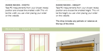 Wooden Blind Measuring Guide