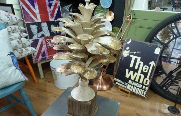 Distressed Metal Pine Cone