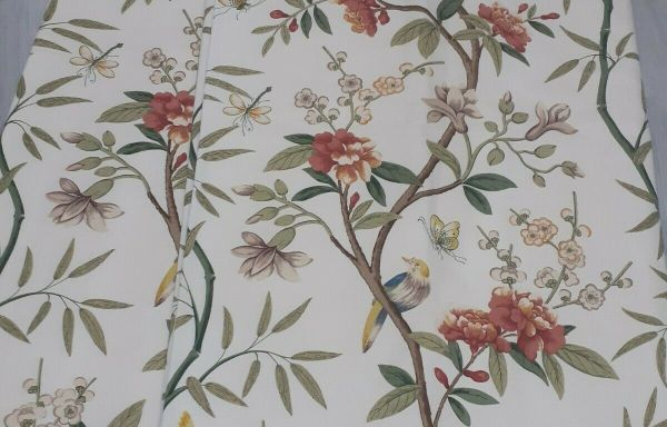 Gp & J Baker Peony & Blossom made to measure bonded lined Curtains