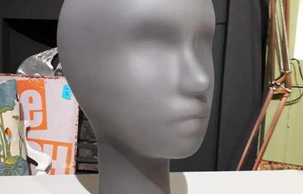 Grey glass head