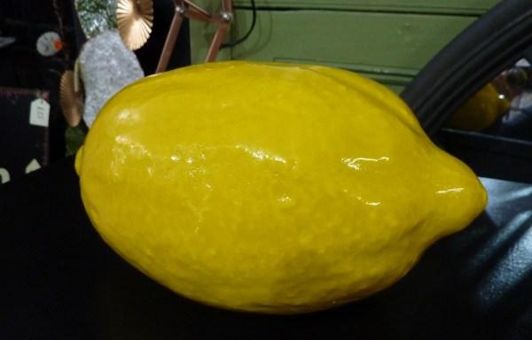 Large ceramic lemon