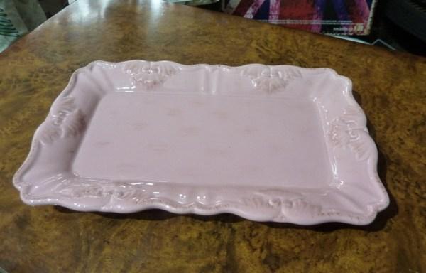 Pink ceramic jewellery tray