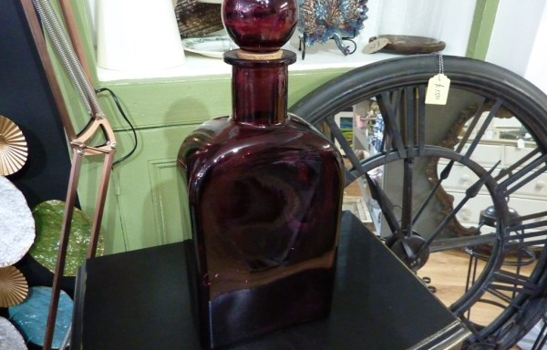 Plum bottle with stopper