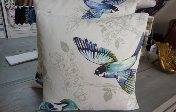"Prestigious Paradisio Birds Cushions 18"" & 16"" with feather inners"