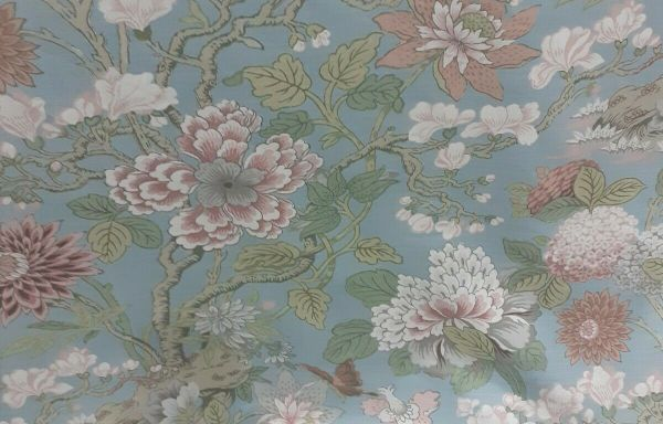 Stunning Large pair GP & J Baker magnolia Curtains