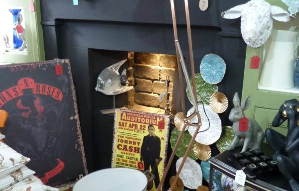 """Copper Floor Standing Angle Lamp 69"""" Tall £120"""