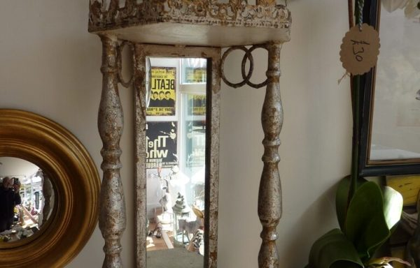 "Metal Shabby Chic French Style Wall Sconce & Shelf 24"" Tall £75"