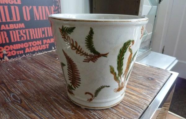 "Fern ceramic plant holder 6"" tall £20"