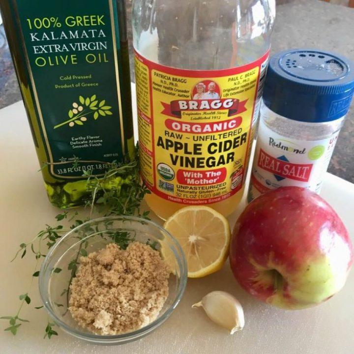 Caramelized Apple Vinaigrette Ingredients