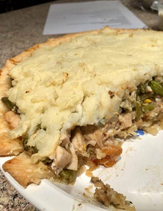 Leftover Turkey Shepherd's Pie