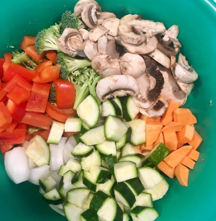 Roasted Vegetables with Sausage Ingredients