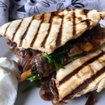 Caramelized Onion and Mushroom Quesadilla